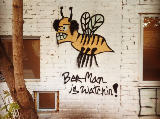 bee-man is watchin!